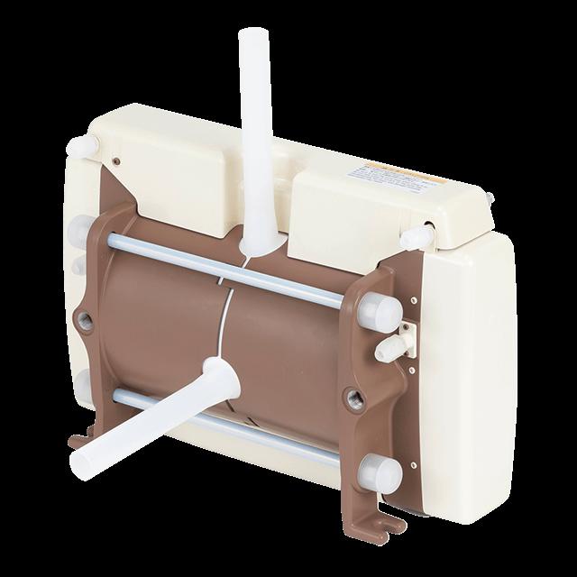 Pneumatic drive bellows pumps