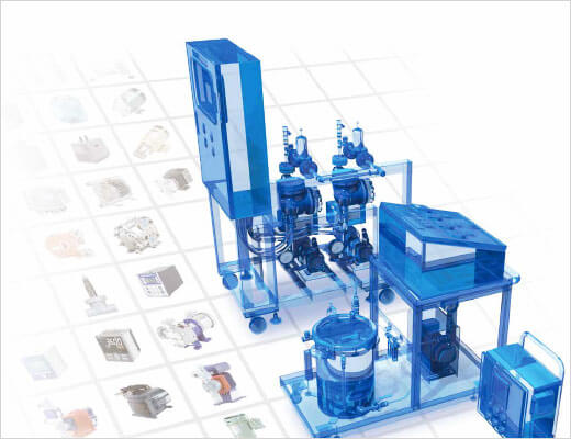 We produce over 600,000 units of fluid control equipment annually in wide-range, low volume production.