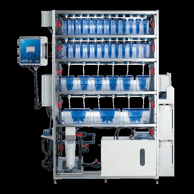 小型魚類集合水槽システム<br>ITS-Zシリーズ LAbREED Zebrafish System